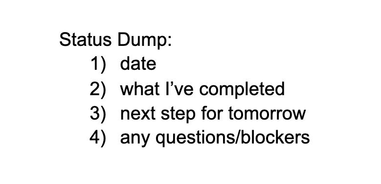 Status Dump Defn